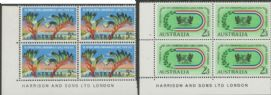 SG 346-7 ACSC 390z., 391z. 7th Commonwealth Games, Perth set of 2 imprint blocks (AE1/134)